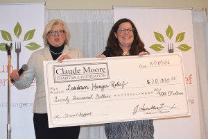 The Claude Moore Charitable Foundation awarded a $20,000 grant to help Loudoun Hunger Relief open a satellite pantry.