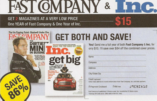 Get Fast Company & Inc. practically for free