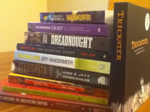 A selection from the to-be-read pile.