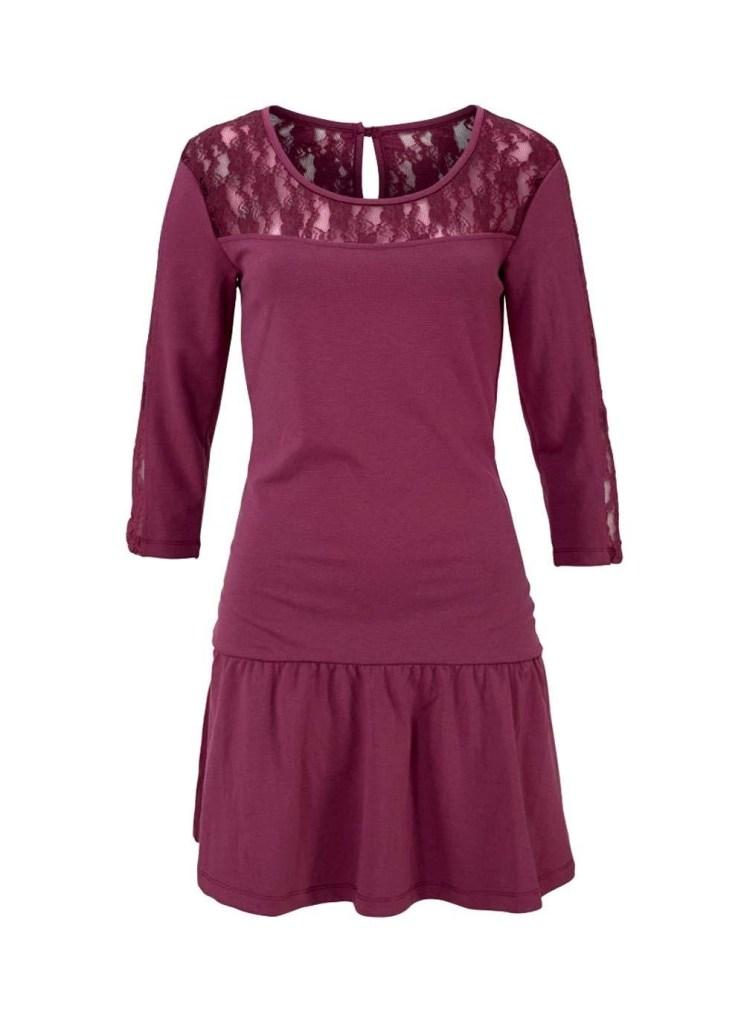10 Einzigartig Bordeaux Kleid Spitze Galerie Abendkleid