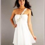 Luxurius Kurze Kleider Weiß VertriebDesigner Spektakulär Kurze Kleider Weiß Spezialgebiet