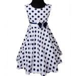10 Wunderbar Kleid Blau Mit Punkten Stylish20 Schön Kleid Blau Mit Punkten Galerie