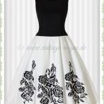 Designer Einzigartig Kleider Weiß Schwarz ÄrmelFormal Fantastisch Kleider Weiß Schwarz Bester Preis