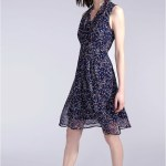 Designer Leicht Sommerkleid Blau StylishFormal Elegant Sommerkleid Blau Ärmel