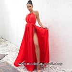 Formal Schön Abendkleid Rot ÄrmelDesigner Genial Abendkleid Rot Design
