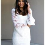 Abend Perfekt Weißes Kleid Mit Ärmeln VertriebFormal Genial Weißes Kleid Mit Ärmeln Spezialgebiet