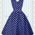Einzigartig Kleid Blau Mit Punkten Boutique20 Genial Kleid Blau Mit Punkten Galerie