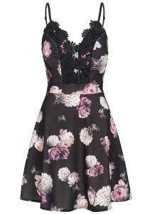 13 Leicht Kleid Schwarz Blumen VertriebAbend Schön Kleid Schwarz Blumen Ärmel
