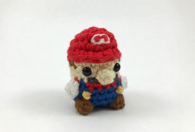 Crocheted Mario