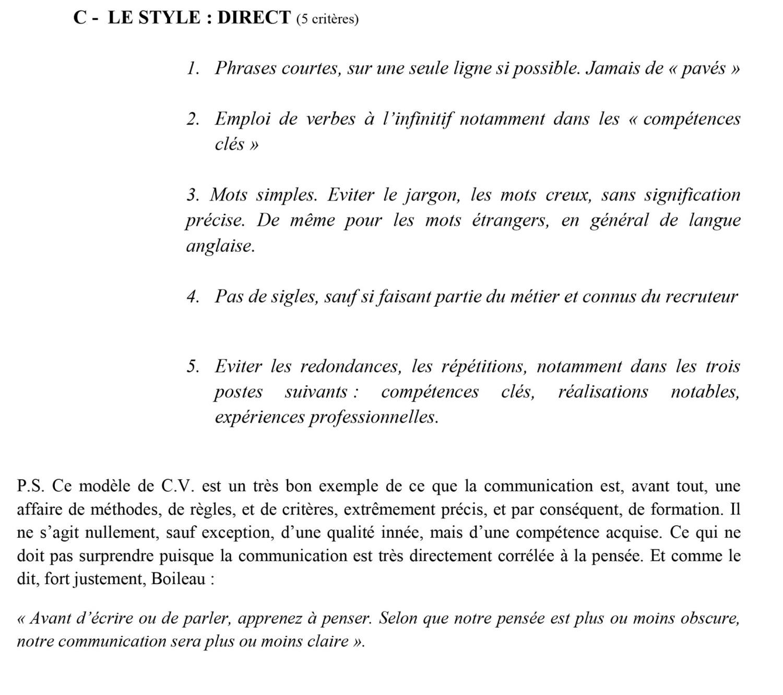 LES 21 CRITERES DE FORME DU CV DPO MKTG-4 p3