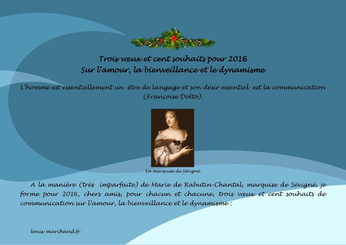 Trois vœux et cent souhaits pour 2016 francais