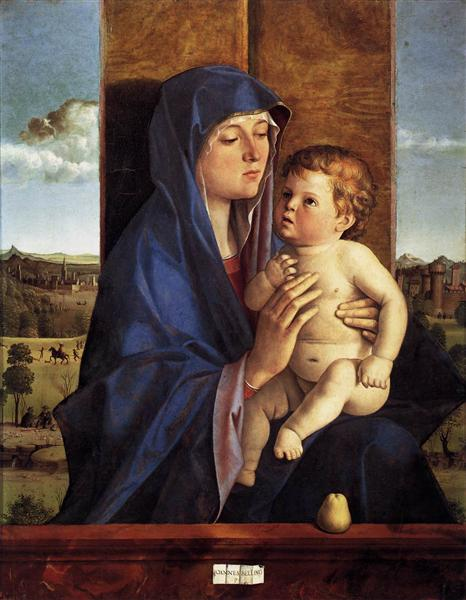 Bellini, 'Madonna and Child' (1480-1490). Oil on panel.
