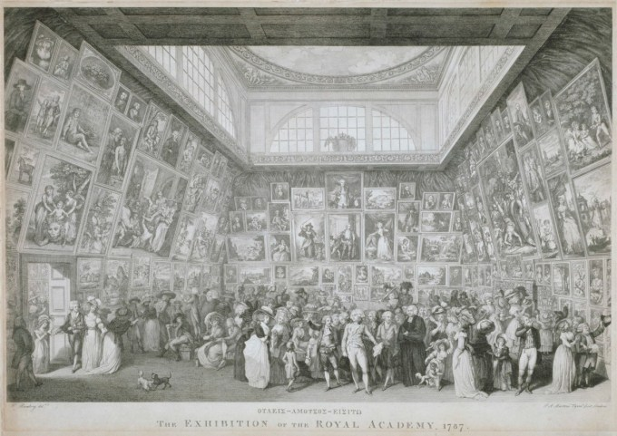 Martini, Pietro Antonio; Poggi, Anthony; Ramberg, Johann Heinrich; The Exhibition of the Royal Academy, 1787