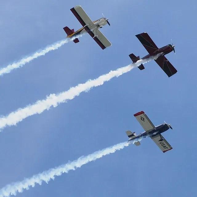 Air show at Ocean City