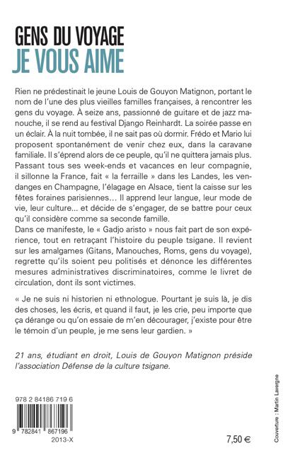 Gens Du Voyage Je Vous Aime De Louis Gouyon Matignon Verso