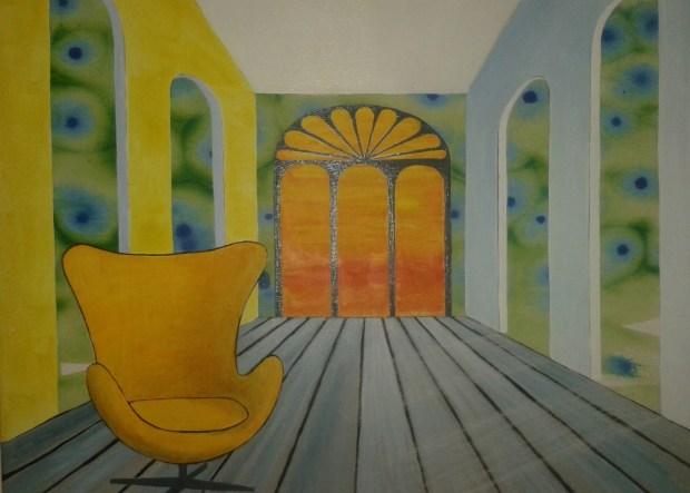 ny udsigt -og tom stol