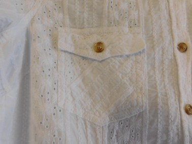 Louise Alice Jay Embroidered Shirt Detail