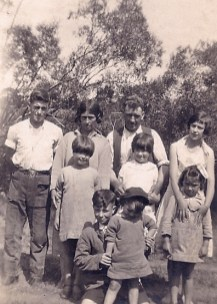 Family shot -- my grandfather is at the back, on the left.