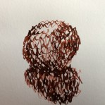 'W' shapes in pen and ink