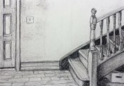 final drawing of the hallway and stairs