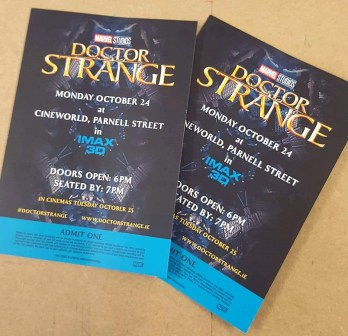 Our tickets!