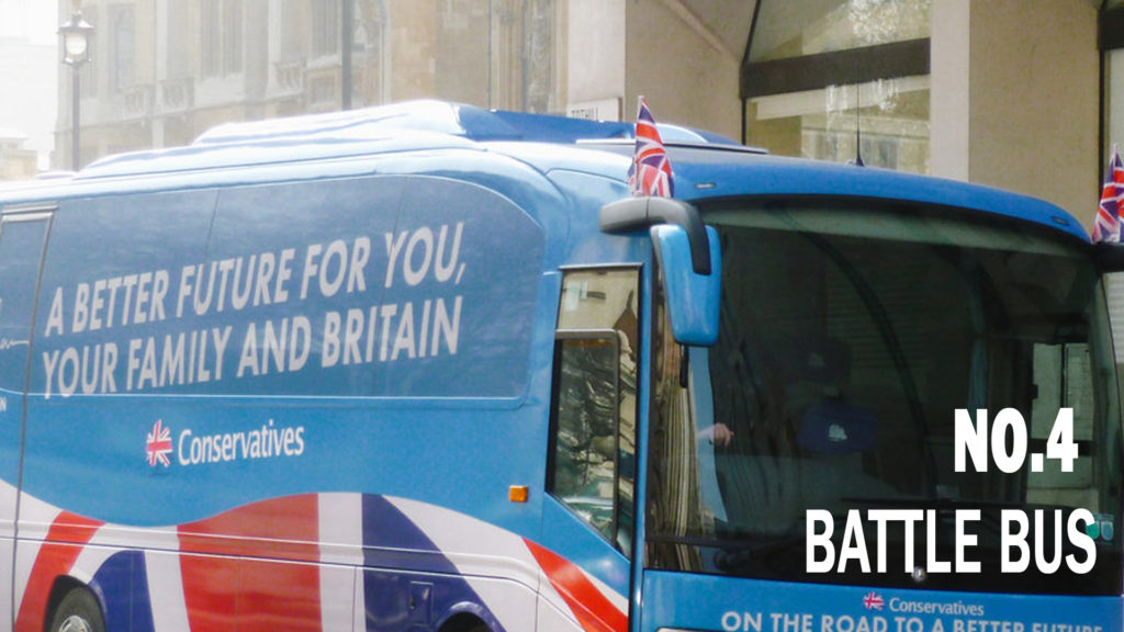 Five Fast Facts about The Missing Activist. Fact 4: A major incident in The Missing Activist occurs on a battle bus, the name given to a coach or vehicle used as both a method of transport as well as a center of operations during apolitical campaign, In 2017 a scandal threatened to overturn the government and even stop Brexit when a busload of activists were driven around the country and their costs not declaredas part of party spending..