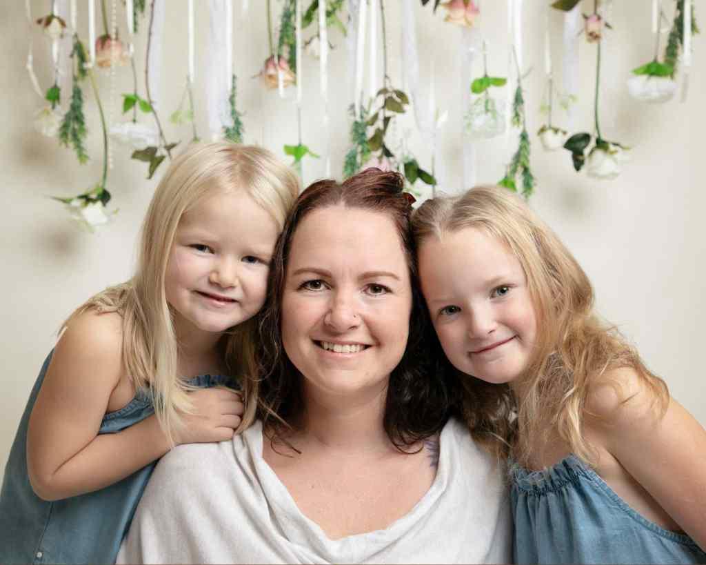 Girls & mum photographed in Haywards Heath