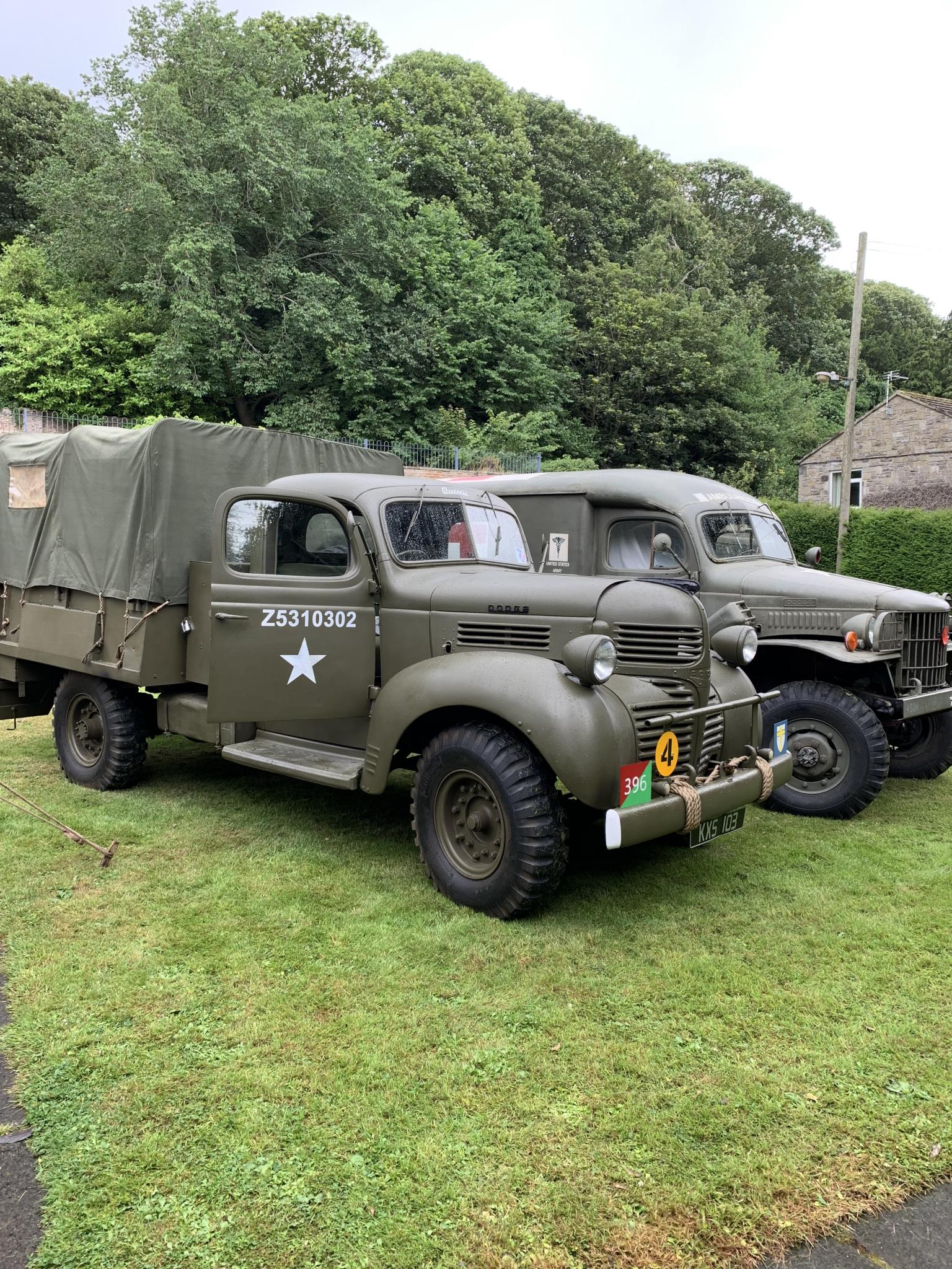 Two of the re-enactors vehicles at the Home Front Vintage Fair 2019