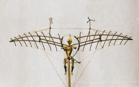Entwurf für ein Lilienthal-Denkmal | 1990, Kupfer/Messing | 40 x 40 x 25 cm