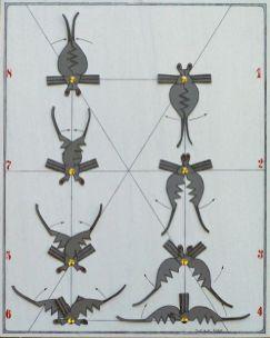 Tanz der kleinen schwarzen Witwe I | 2006, Papier auf Holz | 50 x 40 cm