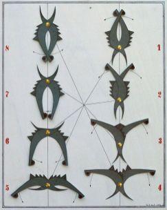 Tanz der kleinen schwarzen Witwe VII | 2006, Papier auf Holz | 50 x 40 cm