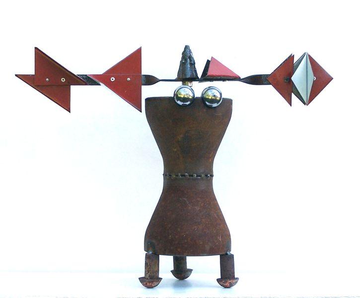 Seezeichen mit Strapsen | 2005, Eisen | 45 x 59 x 19 cm