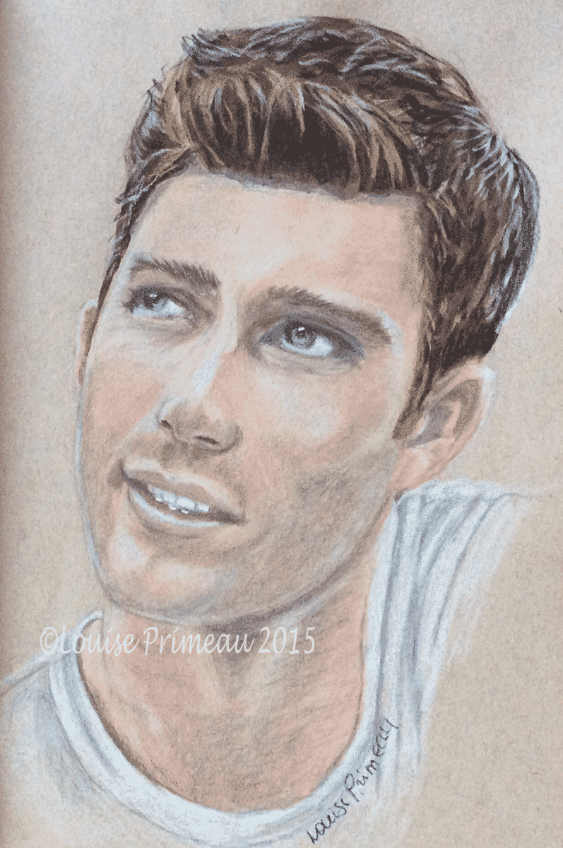 pencil portrait of Scott Eastwood