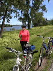 Along bike paths, Ottawa River.