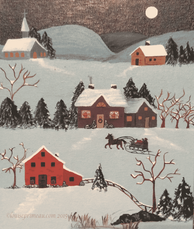 naive style Christmas painting
