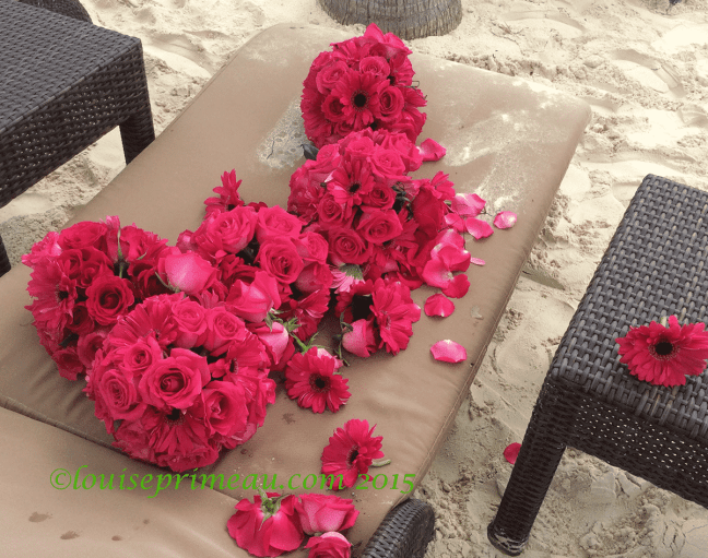 remnants of beach wedding