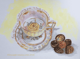 Mom teacup and chocolates