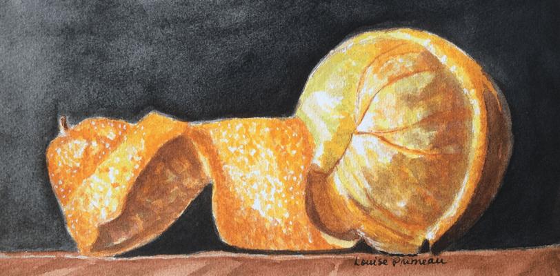 Half-peeled orange challenge