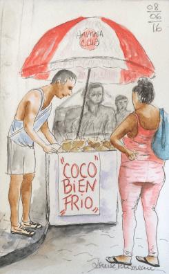 Coco frio journal sketch