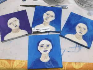 the first stage in a series of acrylic paintings