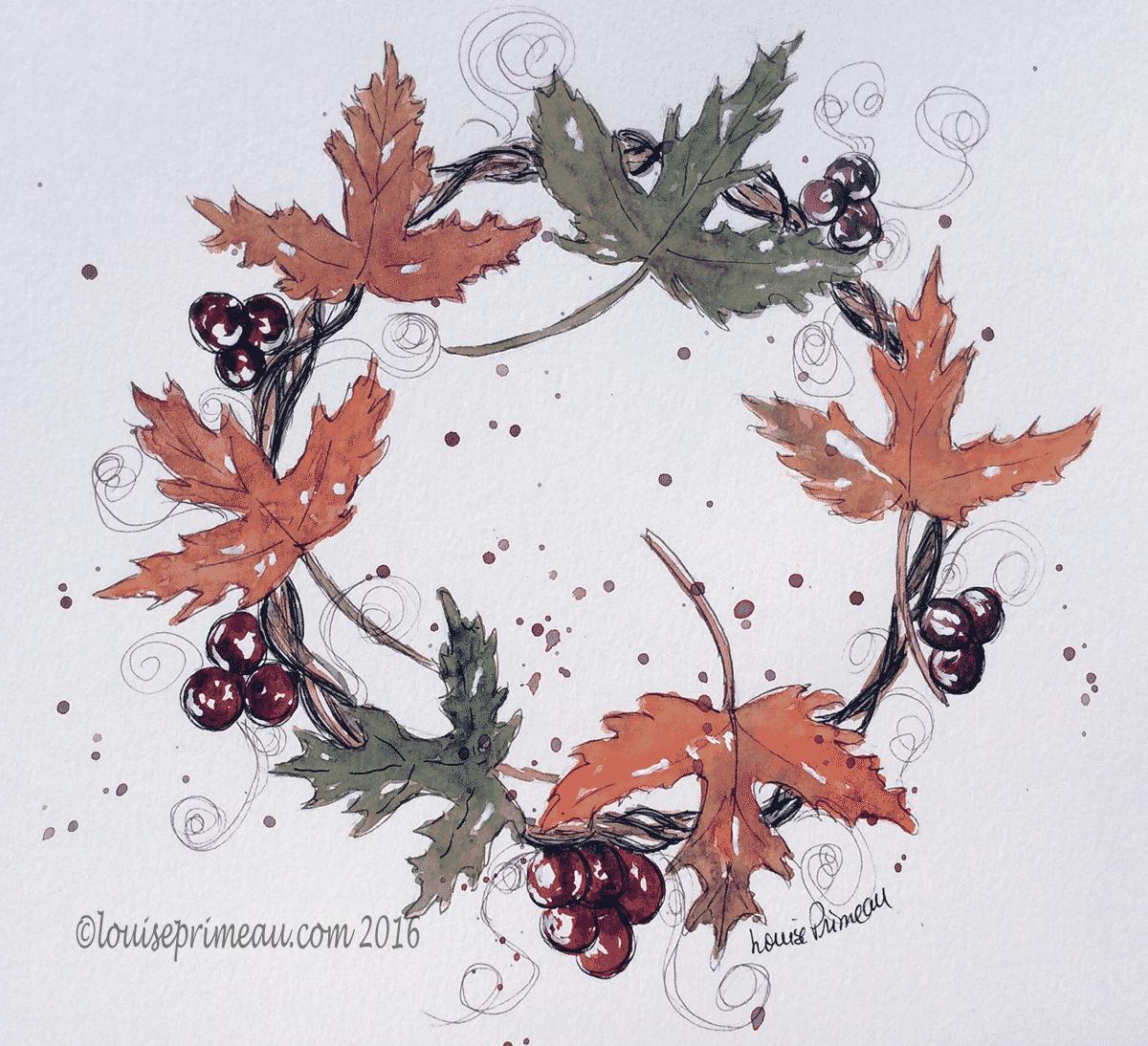 Autumn vignette 4 - watercolour