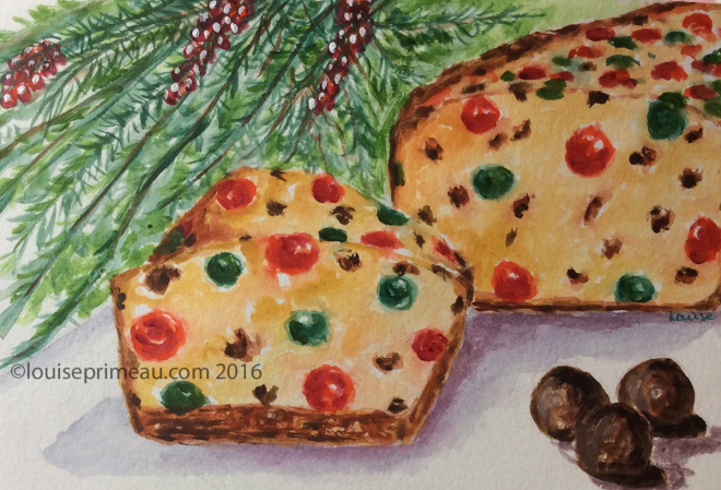 gem-studded fruit cake