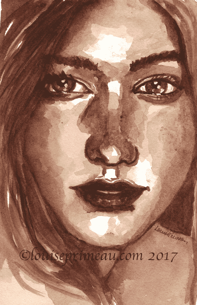 A sprinkling of freckles on her cheeks