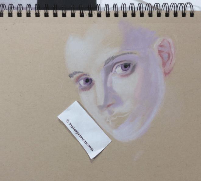 initial pastel portrait