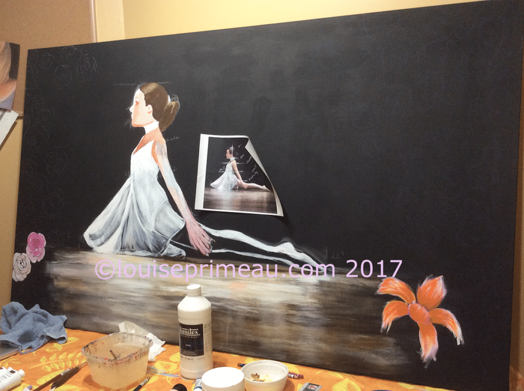 large painting - experimenting