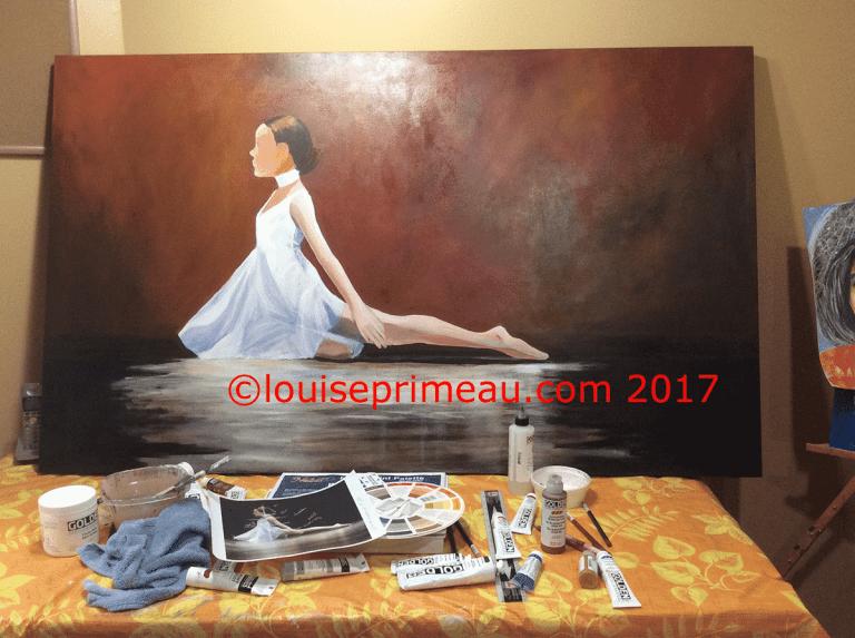 ballerina on canvas
