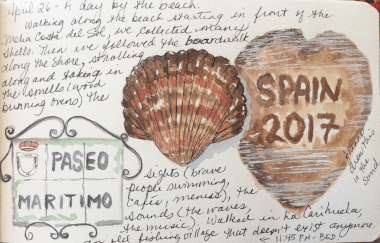 shells on the beach travel journal entry