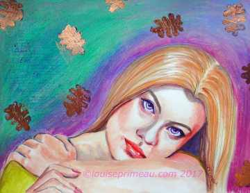And the world opened up to her colour - mixed media portrait
