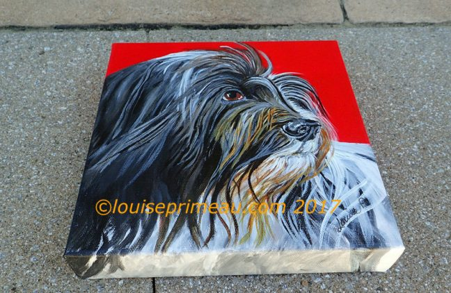 Schapendo (Dutch Sheep dog) painting side view