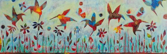 Whimsical Fantasies Dance of the Hummingbirds
